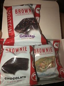 Eat Me Guilt Free, Soft Baked Brownies 6 Piece Mixed Lot