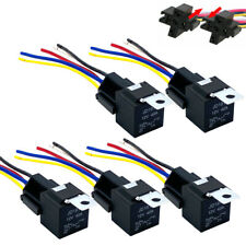 5PCS 12V 30/40 Amp 5-Pin SPDT Automotive Relay with Wires & Harness Socket Set