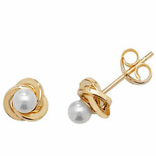 Unbranded Pearl (Imitation) Stud Yellow Gold Fine Earrings