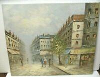 Original Oil Painting Caroline Burnett Listed Artist. Paris Street Scene