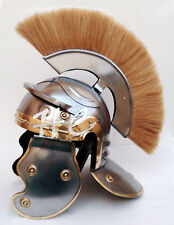 Centurion Armor Roman Helmet With Yellow Plume Medieval Knight Crusader Spartan