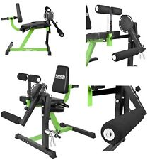 New Heavy Duty Pro Leg Curl & Extension Workout Machine Quads Hamstring Press