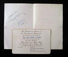 Menu provenance vente aux enchères signé BORG et EVERT RARE vainqueurs RG 1979