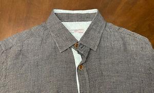 New luciano barbera shirt  100% linen size M
