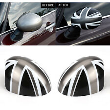 WING MIRROR CAPS COVER POWER FOLD UNION JACK FOR BMW MINI COOPER R55 R56 R60