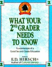 What Your 2nd Grader Needs to Know, Hirsch Jr., E.D., Good Condition, Book