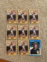 1987 Topps Fleer BARRY BONDS lot of 9 Rookie Baseball Cards Ex-Mt+