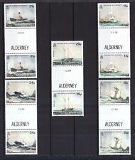Alderney 1987 postfrisch Stegpaar MiNr. 32-36  Schiffswracks
