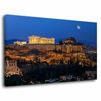 Athens Ancient Greece Famous Architecture History Canvas Wall Art Picture Print