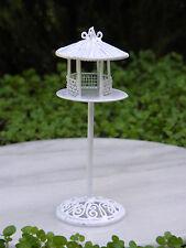 Miniature Dollhouse FAIRY GARDEN Accessories ~ White Wire Bird Feeder ~ NEW