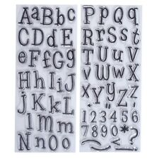 DOCRAFTS PAPERMANIA NUMBER + ALPHABET LEFTOVERS CLEAR STAMP SET 71 PIECES - NEW