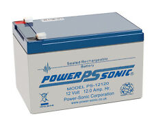 PS-12120 Power-Sonic 12 volt 12Ah Rechargeable Lead Acid 12V PS12120 Battery