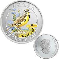 2014 Canada 25 cent Coloured Coin - Eastern Meadowlark