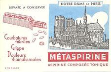 BUVARD METASPIRINE + Paris = Cathédrale NOTRE DAME