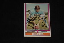 BILL CURRY 1974 TOPPS SIGNED AUTOGRAPHED CARD #441 OILERS