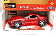 Burago 1/18 - Alfa Romeo 8C Competizione Rouge métal