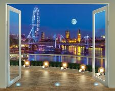 Large Wallpaper Mural London Skyline View 8ft x 10ft Feature Wall Decor Poster