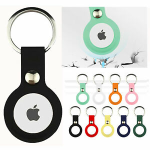 US For Apple AirTag Silicone Loop Holder Keyring Carry Case Keychain pet Air Tag
