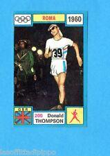 OLYMPIA 1896-1972-PANINI-Figurina ADESIVA !! n.200- THOMPSON - GBR -Rec
