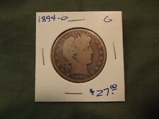 1894O G silver Liberty Barber Half Dollar, see our store for more, 1894-O