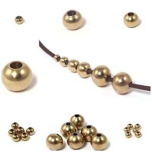 Kugeln Perlen aus Edelstahl vergoldet mit Loch  zum Basteln für Schmuck