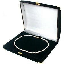 Necklace Pendant Box Black Flocked Gift Chain Display