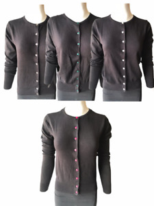 Ladies H&M Long Sleeve Cardigan Warm Button Knitted Knit Girls Viscos Jumpers