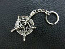 KC044 Skeleton Pentagram Punk Keychain Pewter Key Ring Christmas Gift Bag Sign