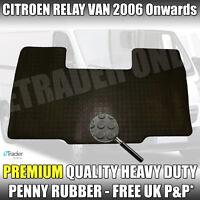 Citroen Relay Heavy-Duty Rubber Floor Mats Front Tailored Fit 1 Piece Mat 06-19