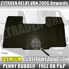 Citroen Relay 2006+ Heavy-Duty Rubber Floor Mats Front Tailored Fit 1 Piece Mat