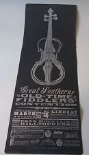 Block Print Chattanooga TN Letterpress Southern Old Time Fiddlers Poster Yee Haw