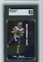 2006 Topps Total Production TP5 Tom Brady SGC 8 Graded Football Card NM/MT GOAT