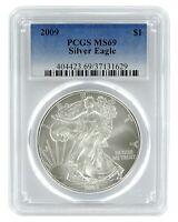 2009 1oz American Silver Eagle PCGS MS69 - Blue Label