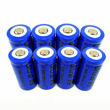 8pcs 16340 CR123A Ultrafire 3.7V 1200mAh Rechargeable Li-Ion Battery Batteries
