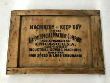 VINTAGE WOODEN UNION SPECIAL MACHINE COMPANY SIGN