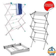 Extendable Clothes Airer Dryer 3 Tier Metal Laundry Drying Rack Indoor Outdoor