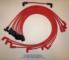 1987-1995 CHEVY/GMC SUBURBAN TAHOE YUKON 5.7L 350 TBI RED 8MM Spark Plug Wires