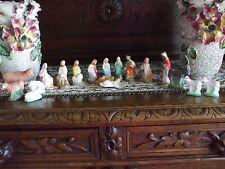 Vintage Christmas Nativity Set Plaster Many Animals Holy Family Shepherds Kings