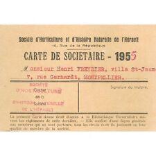 Henri FREYDIER Villa St Jaume 7 rue Gerhardt Montpellier Carte Horticulture 1955