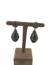 Turkish Handmade Jewelry Mallorca Pearl Non Allergic Bronze Woman Earring - 236