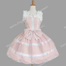 Reenactment Sweet Lolita Jumper Skirt Cute Pale Pink Dress Clothing Theatre Wear
