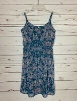 Frenchi Stitch Fix Women's Sz S Small Blue Floral Sleeveless Spring Summer Dress