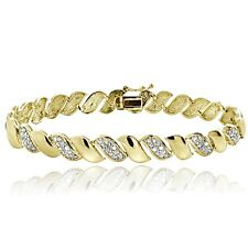 0.50ct TDW Diamond San Marco Tennis Bracelet in Gold Plated Brass