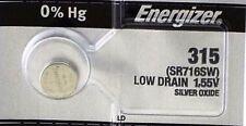 ENERGIZER 315 SR716SW WATCH BATTERIES SR67 SR716 NEW SEALED Authorize Seller