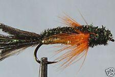 10 x Mouche peche Streamer Jersey Herd H8/10/12 reservoir trout fly fishing