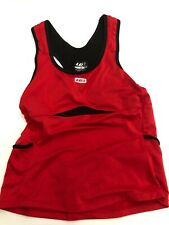 Women's Louis Garneau Tri Top Red/Black Size Large