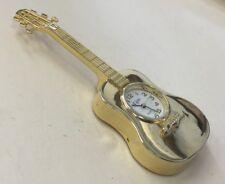Elgin Quartz Guitar Clock Figurine-Works-New Battery XFX16