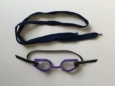 New listing Purple Underwater Goggles With Dark Blue Lace