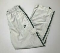 Vintage 2000s Nike Swoosh Embroidered Gray Athletic Track Pants Adult Size M