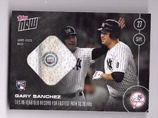Gary Sanchez 2016 Topps Now Game Used Base Relic 9/27 Serial #'d /99 Card #509-B